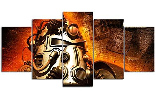 Five Canvas Painting Fall_out Radiation crisis Colgar cuadros 78.7 'x39.4' Decoración de oficina Debe usarse con el marco