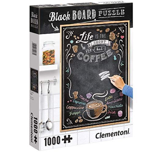 Clementoni-39466 Puzzle 1000 Piezas Pizarra Coffe, Multicolor (39466.1)