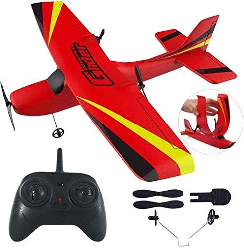 Bck 2.4GHz Control remoto Avión de 6 ejes Gyroscopio Drone Modelo de aviación de alta velocidad Radio Glider Ala fija Ala de control remoto incorporado Regalos para adultos y niños