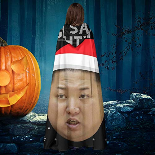NULLYTG Navidad Kim Jong una Lista traviesa Unisex Navidad Halloween Bruja Caballero Capucha Bata Vampiros Capa Capa Cosplay Disfraz