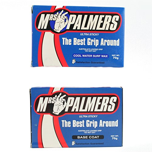 Mrs Palmers 1 x Base Coat and 1 x Cool Water Top Coat Surfboard Wax