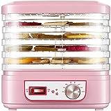 LJJOO La comida deshidratante puede elevar la secadora de frutas de fruta rosa multifunción de la fruta de la fruta de 5L de gran capacidad de gran capacidad PP Material comercial y cocina casera Desh