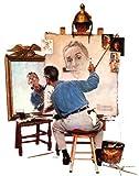 Norman Rockwell Triple Self Portrait 1960 Art...