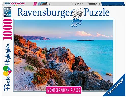 Ravensburger Puzzle, Puzzle 1000 Pezzi, Grecia, Puzzle per Adulti, Collezione Mediterranean Places, Puzzle Paesaggi, Puzzle Ravensburger - Stampa di Alta Qualità