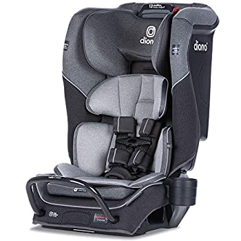 Diono Radian 3QX 4-in-1 Rear & Forward Facing Convertible Car Seat   Safe+ Engineering 3 Stage Infant Protection 10 Years 1 Car Seat Ultimate Protection   Slim Design - Fits 3 Across Gray Slate