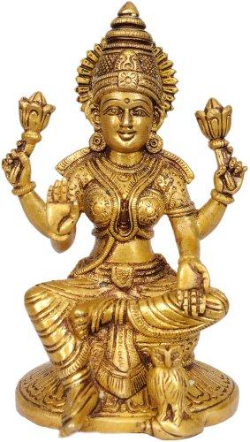 Exotic India Göttin Lakshmi–Messing Statue