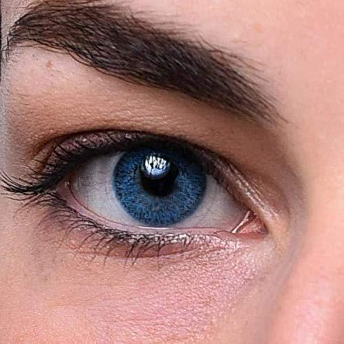 Blaue Kontaktlinsen | Hellblau | natürlich farbige Kontaktlinsen | Farbige Kontaktlinsen ohne Stärke | MOOD-LENTILLES (französische Marke)