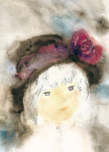 500ピース ジグソーパズル バラ飾りの帽子の少女 (38x53cm)