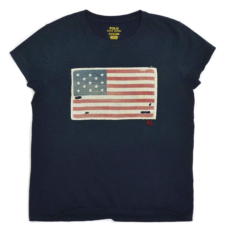 (ポロ ラルフローレン) Polo Ralph Lauren コットン Tシャツ レディース フラッグ 星条旗 アメリカ国旗 ヴィンテージ 女性 トップス 半袖 [並行輸入品]