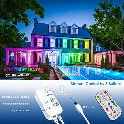 Led Strip Lights 50 Feet,TINOCOR Led Lights Strip App Control, Color Changing and Synchronization with Music,Led Lights for Bedroom,Room and Home Decoration 5