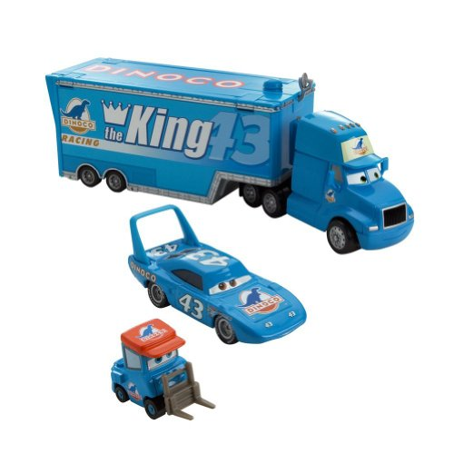 Disney / Pixar CARS Movie 1:55 Die Cast Car Exclusive Team Dinoco (Gray Hauler, King and Dinoco Pitty) - Piston Nights Package