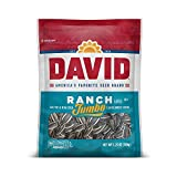 DAVID SEEDS Roasted and Salted Ranch Jumbo Sunflower Seeds, Keto Friendly, 5.25 oz, 12 Pack