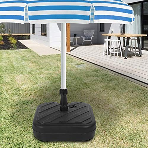 Labuduo with handle HDPE plastic parasol base, parasol support, portable garden for beach