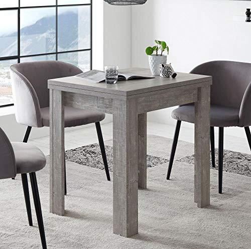 storado.de Esstisch ausziehbar Beton 80x78x60 cm Monzi 0560 80x60 Küchentisch Tisch
