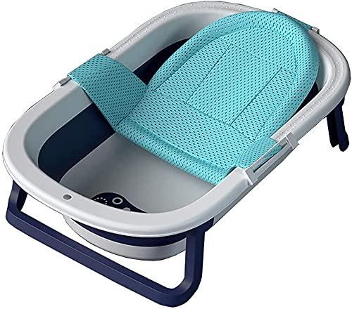 Baby badkar med duschnät, för småbarn nyfödda bärbar dusch bassäng spara utrymme, med badstöd ultra kompakt baby badkar,Blue