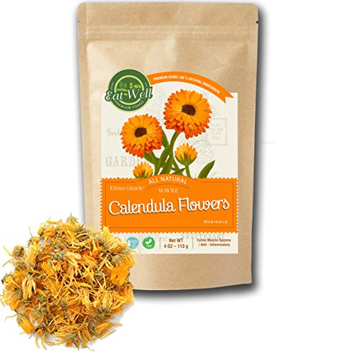 Eat Well Premium Foods - Calendula Flowers Tea 4oz , Whole Dried...