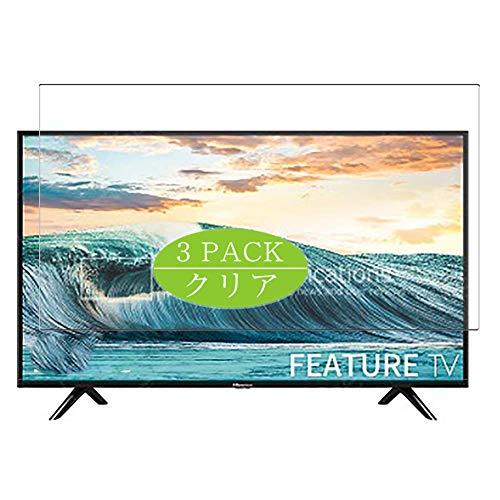 VacFun Lot de 3 Films de Protection d'écran HD Transparents pour écran 31.5 Hisense H32B5600 TV, Film Protecteur sans Bulles (Pas de Verre trempé)