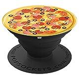 Pizza Liebhaber Geschenk - Schinken Käse Pizza Belag - PopSockets Ausziehbarer Sockel und Griff für Smartphones und Tablets