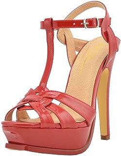 Women's Open Toe T-Strap Platform High Heel Stiletto Sandal