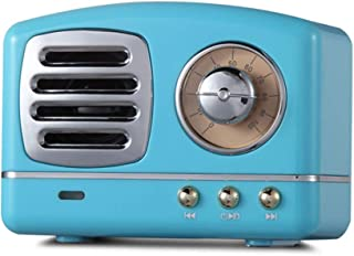 Portable Bluetooth Retro Speaker, Wireless Mini Vintage Speaker with Rich Bass, Stereo, Built-in Mic for Travel, Home,Outdoors (Blue)…