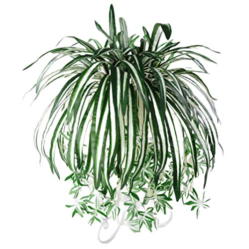 zzJiaCzs 1Pc Artificial Chlorophytum Plant, Wall Hanging Flower Arrangement Home Decoration