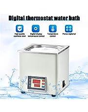 TOPQSC Termostático digital Baño de agua Laboratorio, Pantalla digital eléctrica emperatura constante, temperatura ambiente hasta 100 ° C, capacidad de 3 litros, 300 W, 220 V / 60 Hz