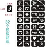 WYN 12 Colores/Set Flash Tattoo Face Body Paint Pintura al óleo Pigmento Arte Tema Fiesta   Fancy Dress Party Maquillaje Herramienta, Plantilla de Pintura Palo