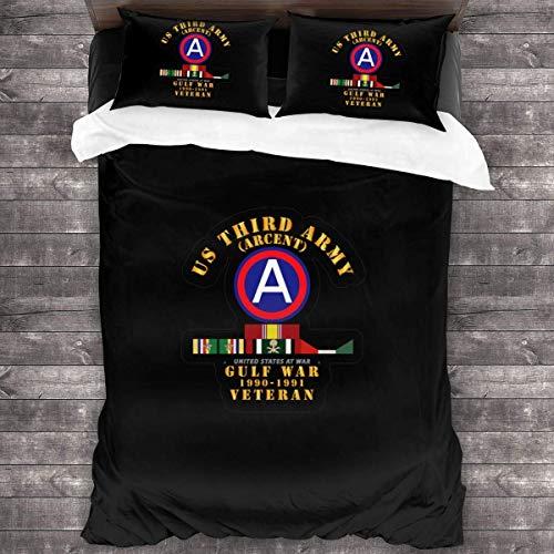 SFWER 3rd US Army Juegos de Cama de 3 Piezas Algodón Natural Floral Ultra Suave Cómodo y...