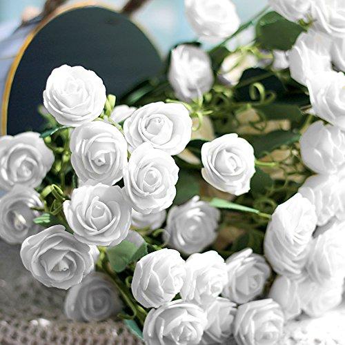 ebuybox® 144er Weiss Schaumrosen Brautstrauss Rosenstrauss Kunstrose Hochzeit Deko