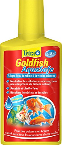 TETRA Goldfish AquaSafe - Conditionneur d'Eau pour Poisson Rouge - 250ml