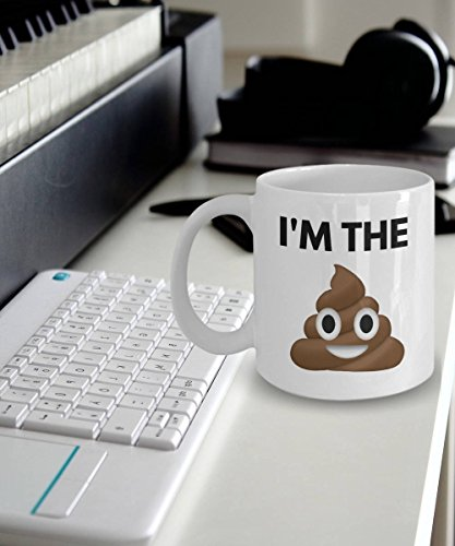 I'm The Sh*t, Poop Emoji Mug, Emoji Tea Mugs, Coffee Mug, Ceramic Mug, Funny Mugs, Funny Coffee Mug, Birthday Gift, Gift For Him, Gift For Her, Gift Idea For Friends, 11oz 15oz