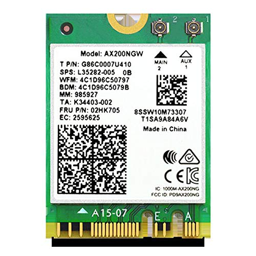 Camisin Dual Band M.2 Wifi 6 for AX200 2974 Mbps 5.0 802.11 MU-MIMO NGFF Laptop Network Card Windows 10