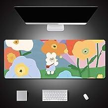 Alfombrilla de Ratón con Estampado de Flores Alfombrillas Grandes Computer Gaming Xl Alfombrilla de Ratón Grande Teclado Juegos de Goma Pc Alfombrilla de Escritorio 800X400X3Mm