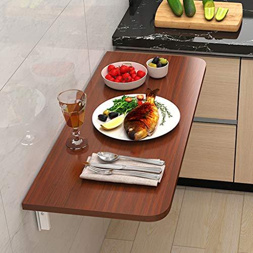 Mesa plegable Mesa de pared plegable pequeña de montaje en pared, escritorio integrado, escritorio portátil plegable simple flotante, mesa colgante para ahorrar espacio para estudio, dormitorio