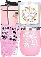 35歳の誕生日ギフト 女性用 35歳の誕生日 35歳の誕生日のタンブラー 35歳の誕生日のデコレーション 35歳の女性へのギフト 35歳になる女性への誕生日プレゼントアイデア