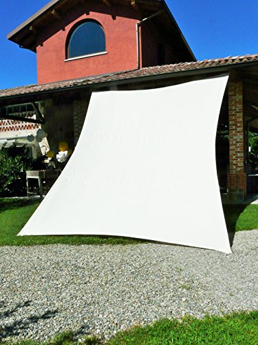 Maffei Art 1554 Manta. Voile Polyma rectangulaire CM. 500X400. Made in Italy. Couleur Ecru.