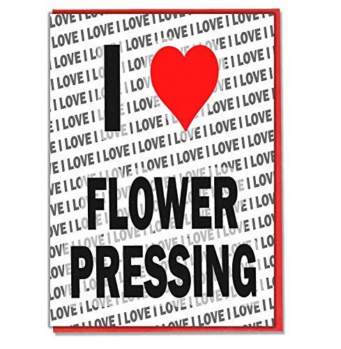 I Love Bloem Persen - Wenskaart - Verjaardagskaart - Dames - Heren - Dochter - Zoon - Vriend - Echtgenoot - Vrouw - Broer - Zuster