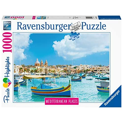 Ravensburger Puzzle, Puzzle 1000 Pezzi, Malta, Puzzle per Adulti, Collezione Mediterranean Places, Puzzle Paesaggi, Puzzle Ravensburger - Stampa di Alta Qualità