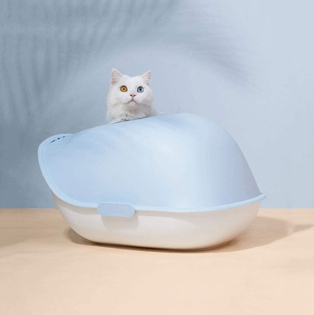 Pet Litter Box Little Topics on TV New color Whale Spl Large top-in Type cat