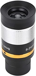 Dpofirs 8-24mm Continuous Zoom Eyepiece Lens for Telescopes, Telescope Adapters, Wide Field of View Optical Lens with Exte...