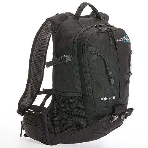 Skandika Whistler - Sac à Dos Marche randonnée Daypack - 32 litres (Noir)