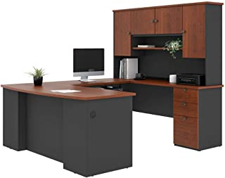 Bestar U-Shaped Desk with Pedestal and Hutch - Universel