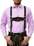 Camisa para traje regional tirolés, color rosa Rosa L