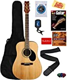 Jasmine S35 Acoustic Guitar - Natural Bundle with Gig Bag,...