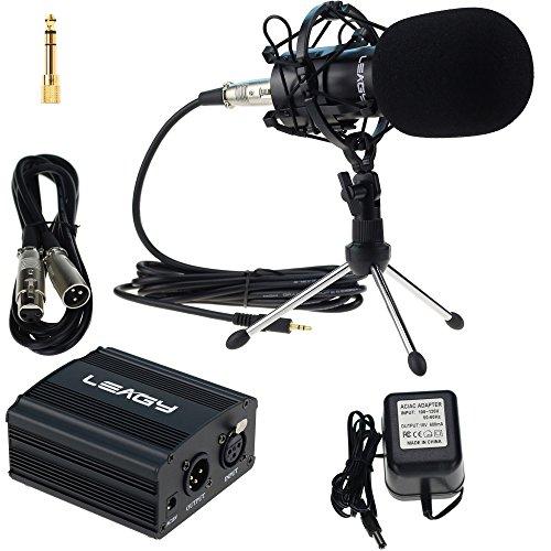 LEAGY L-58 Home Recording Sound Studio Dynamic Mic, Pro Audio Condenser...