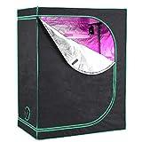 GARTIO 600D Mylar Lightproof Grow Tent, 2' x 4' High Reflective Hydroponic Plant...