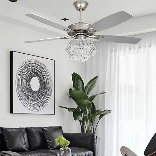 Ventilador de techo con luz y mando a distancia (52 pulgadas)