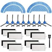 Isincer 19 Kit de Accesorios de Repuesto Compatible con la aspiradora Robot Conga 1090 (8 Juegos de filtros Hepa + 8 cepillos Laterales + 2 Trapos de fregona