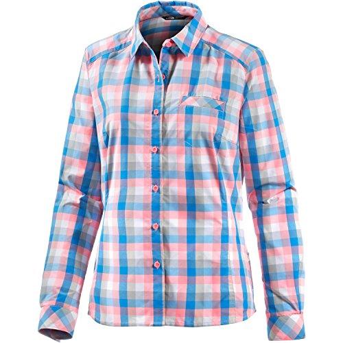 North Face Damen Hemd W L/S Zion Shirt, Neon Peach Plaid, L