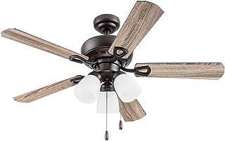Portage Bay 51442 Miller Park Ceiling Fan, 44, Bronze